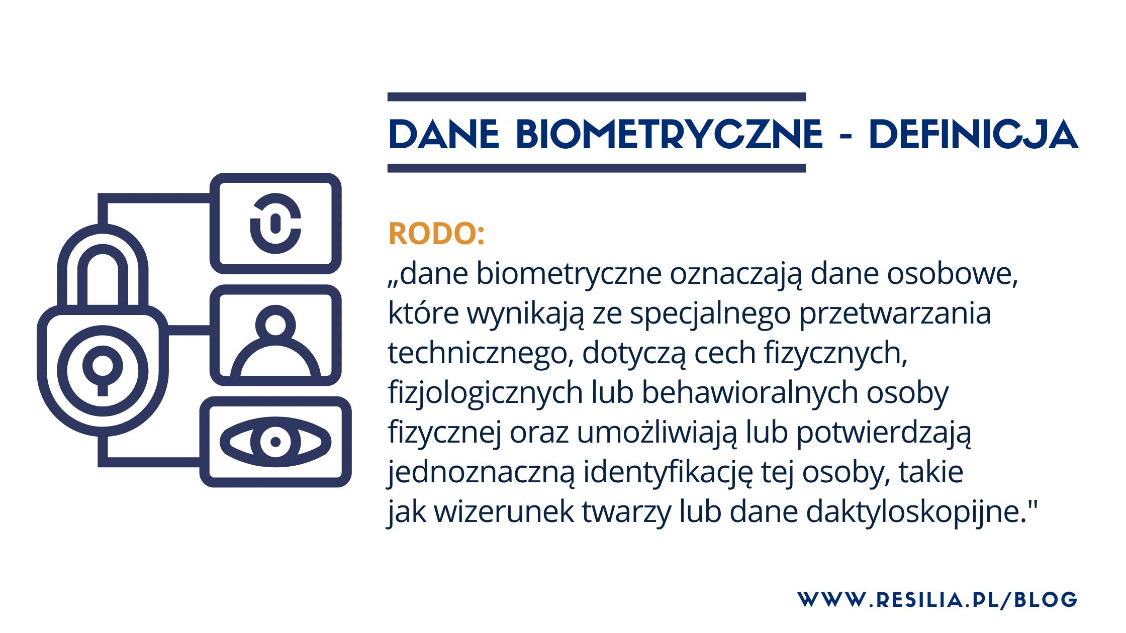 Dane biometryczne - definicja